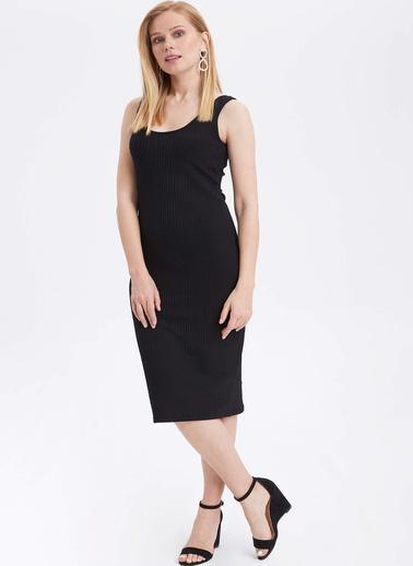 DeFacto Askılı Slim Fit Elbise Siyah